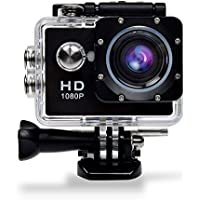 GBB Sport Action Ultra HD 1080P Digital Camera Waterproof Camera 12MP Camcorder DV 170 Degree Wide Angle MIC/Speaker Motion Detection With 2 Rechargeable Batteries & Free Mounting Kits - Black