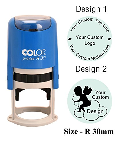- COLOP R30 Self Inking Round Custom Rubber Stamp With Personalized Logo Stamp