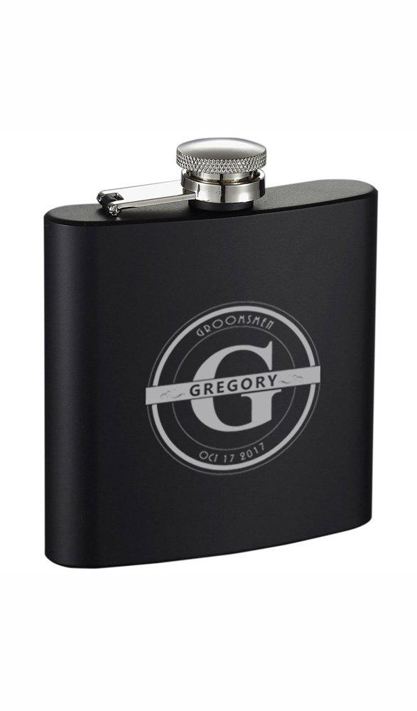 【18%OFF】 Personalized Groomsmen Visol Visol Ravenブラック6オンスステンレス鋼フラスコ B0752Q8C25 Personalized B0752Q8C25, 麻績村:fe7dfeef --- a0267596.xsph.ru