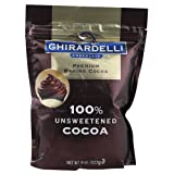 Ghirardelli Chocolate Premium Baking Cocoa - Cocoa Pouch 100% Unsweetened 8 Oz (Pack Of 6)