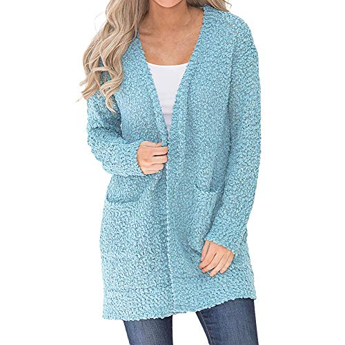 for Women Coat.AIMTOPPY Ladies Casual Solid Color Medium Thick Single-Faced Long-Sleeved Long Cardigan -
