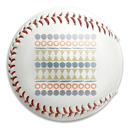 Aztec Ethnic Tribal Seamless Pattern Customized Low Impact Safety Softball Baseball for Indoor and Outdoor Training (Aztec Pitching Machine)