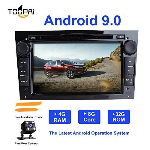 Android Car Radio Stereo,TOOPAI for Opel Antara Vectra Crosa Vivaro Zafira Meriva Android 9.0 Octa Core 4G RAM 32G ROM Auto Stereo in-Dash GPS Radio with Free Rear View Camera Removal Tools(Black) ()
