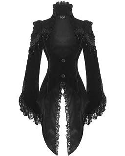 Andrea SchwarzBraun Mantel für Damen Moden Steampunk Yf6ybg7v