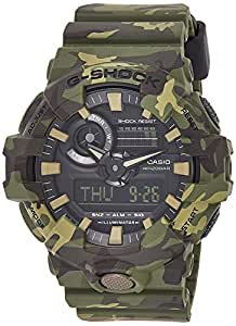 Casio Men's Quartz Watch, Analog-Digital Display and Resin Strap Ga-700Cm-3Adr, Green Band