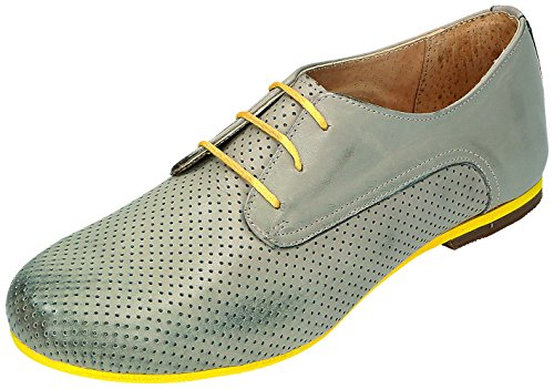 mujer Gris cordones para MICCOS gris Gris de Zapatos gris wZIqF0