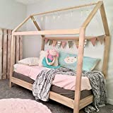 Cheap House Bed Frame Twin Size with legs (deluxe version) PREMIUM WOOD