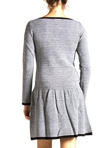 fit regular 842 Grau frau langarm Kleid stil Carrera für 469 Jeans skater trikot unifarben 1RvqF