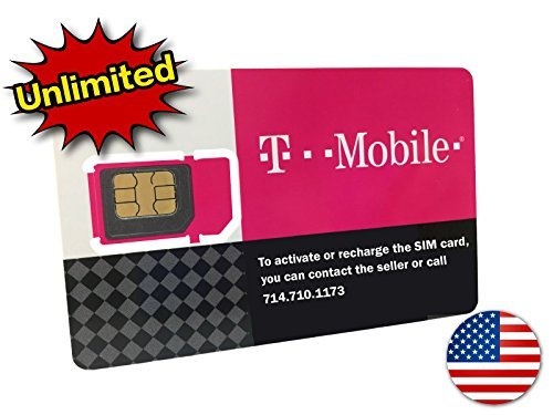 (T-Mobile Prepaid SIM Card Unlimited Talk, Text, and Data for 14 days (For use in United)