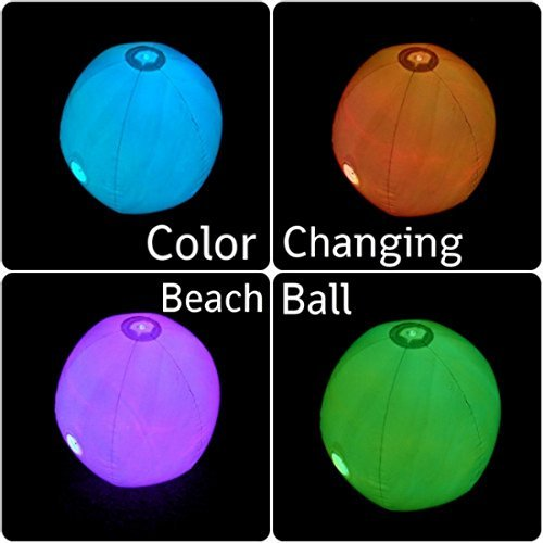 Light Up Beach Ball With Color Changing Led Lights in US - 5