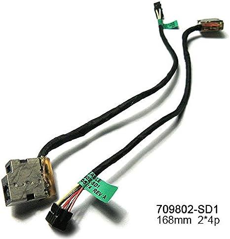 DC POWER JACK W// CABLE FOR HP Pavilion 17-e120nr 15-e071nr 17-e186nr 17-e189nr