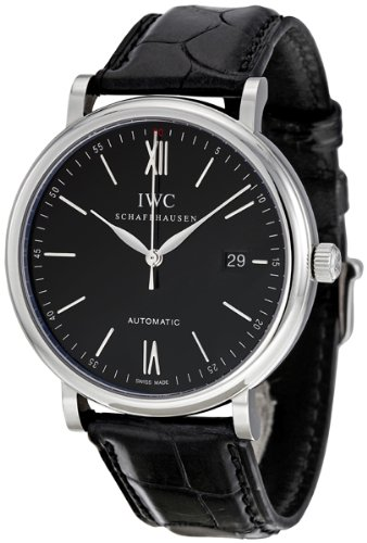 IWC-Mens-IW356502-Portofino-Automatic-Black-Dial-Watch