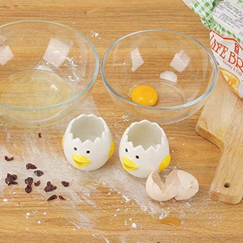 Separatore uovo Vomito uovo di gallina Seperator bella pulcino in ceramica a forma di tuorlo duovo Filtro Splitter domestica cucina che cucina Accessori Strumento