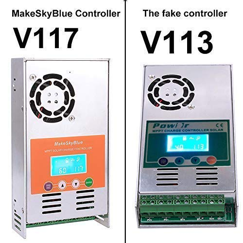 MakeSkyBlue MPPT Solar Charge Controller V118-30A Solar Charge Regulator LCD Display for 12V 24V 36V 48V Acid Gel Sealed Flooded Lithium Battery System Maximum PV1200W