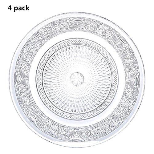 (4 Pieces Restaurant Home Décor Accents Salad/Dessert Plate Cup Coaster,7 inch(set of 4))