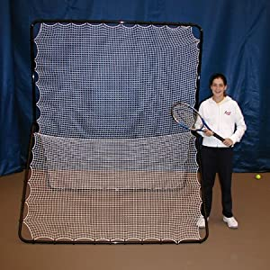 OnCourt OffCourt Tennis Rebounder Net - For Tennis & Pickleball / Double-Sided for Two Players / Indoor & Outdoor