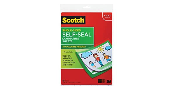 Amazon.com: Scotch 9 x 12 inches Laminating Sheets único ...