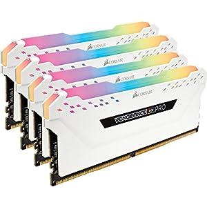 Corsair Vengeance RGB PRO 32GB (4x8GB) DDR4 3200MHz C16 LED Desktop Memory, White
