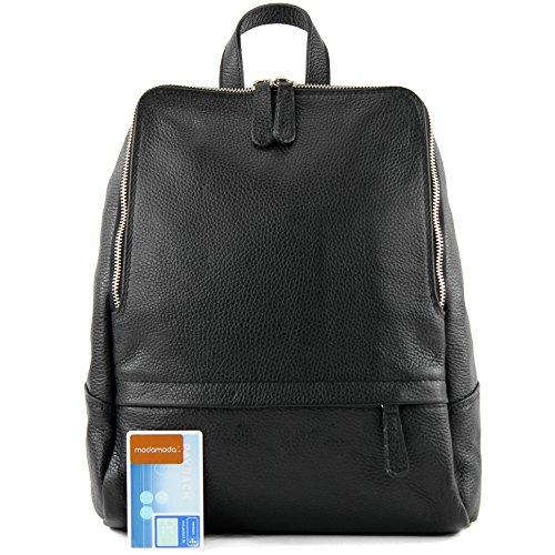 sac sac à cuir dames à dos T138 cuir Citybag en Sac Schwarz dos sac en dos à dPqHXw6w