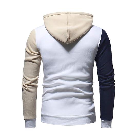 Amazon.com: YKARITIANNA 2019 Mens Long Sleeve Hoodies Hot Patchwork Fleece Hooded Sweatshirt Outwear Tops