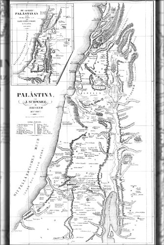Poster - Israel Map Drawn By Rabbi Joseph Schwarz At 1847