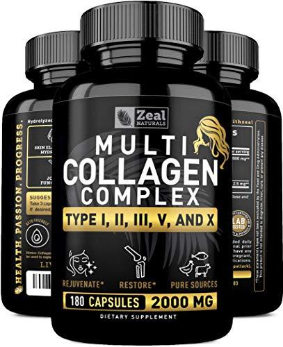Amazon.com: Multi Colágeno Proteína Cápsulas – Puros de ...