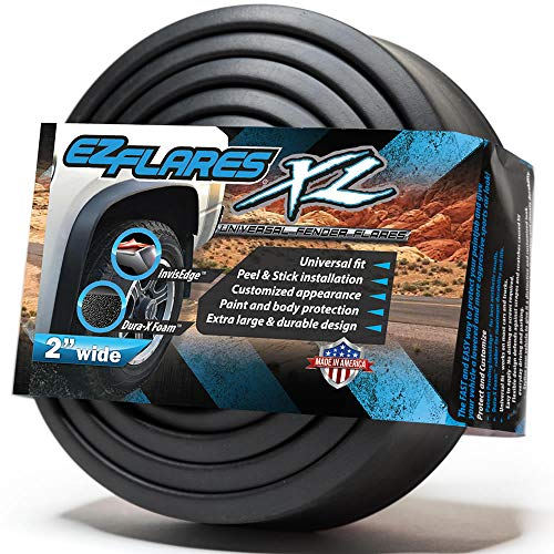 The Original EZ Flares XL Universal Flexible Foam Rubber Fender Flares Trim 2-Inch (Avalanche 2010 Flares Fender)