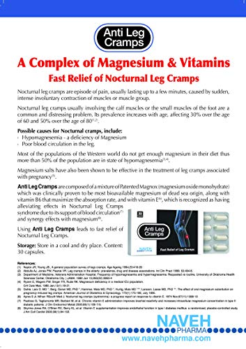 Anti Leg Cramps Magnesium Dead Sea Supplement for Muscle Pain Relief, Nocturnal Leg Cramps