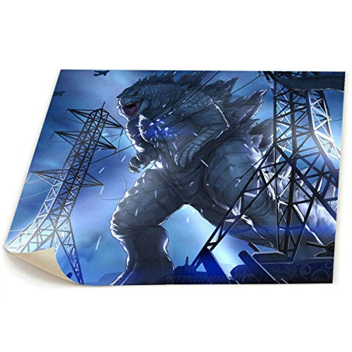 Little Monster Godzilla HD Unframed Painted On Canvas Home Decor Funny Art for Kids Bedroom
