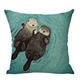 Froomer Animal pillowcase Cotton Linen Pillow Case Sofa Waist Throw Cushion Cover