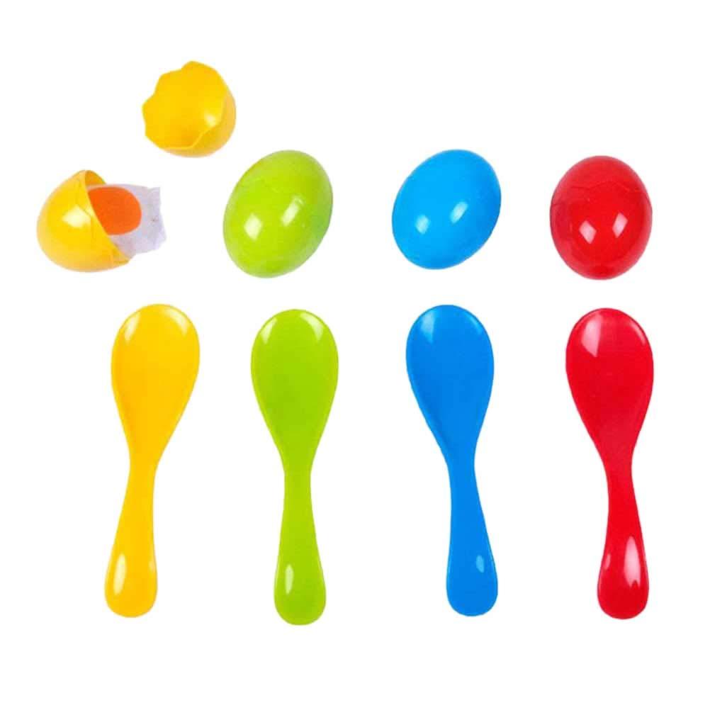 STOBOK Oeuf cuillère Relais Course Jeu Balance des œufs Jeu de Balle fête Anniversaires Famille compétition Enfants