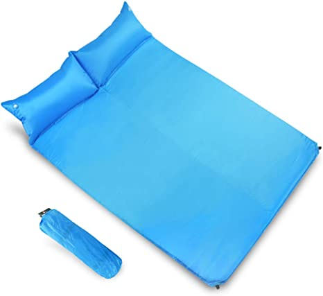 Camping Sleeping Pad Outdoor Camping Single Can be Spliced Double PVC Automatic Inflatable Cushion Inflatable Bed