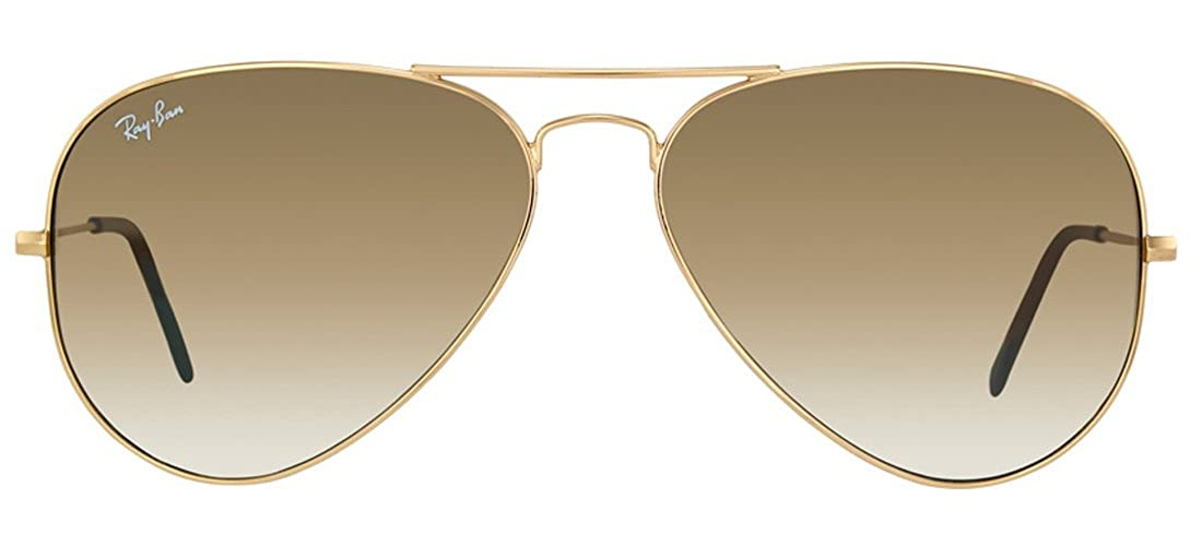 08c2c8c121fdf Amazon.com  Ray-Ban RB3025 001 51 55mm Aviator Gold Frame   Light Brown  Gradient Lenses Made In Italy Sunglasses  Shoes