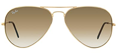 ray ban rb3025 00151 55mm aviator gold frame light brown gradient lenses