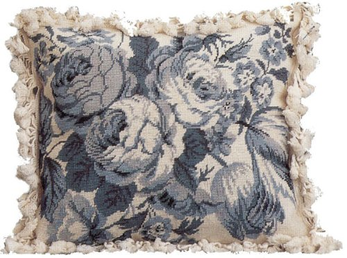 Deluxe Pillows Peoney Study - 18 x 21 in. needlepoint pillow