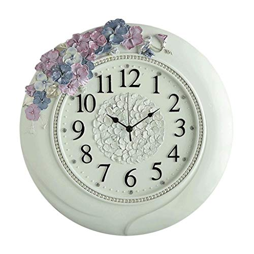 ZXL Living Room Mute Clock Fashion Wall Clock Creative Three-Color Resin Hanging Clock (Color : A)