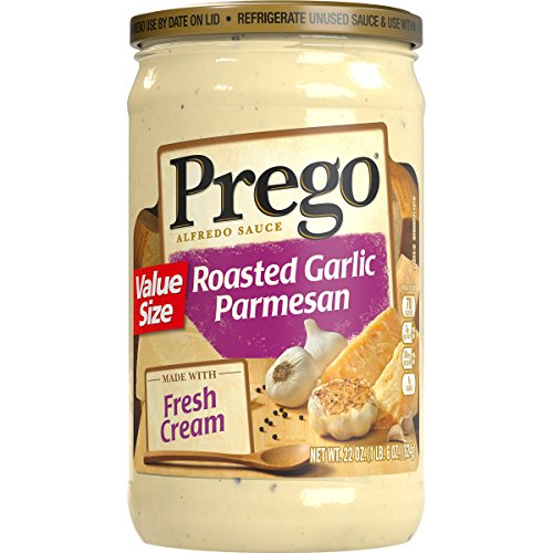 Prego Roasted Sauce (Prego Alfredo Sauce, Roasted Garlic Parmesan, 22 Ounce (Packaging May Vary))