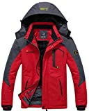 #6: Wantdo Men's Mountain Waterproof Fleece Ski Jacket Windproof Rain Jacket