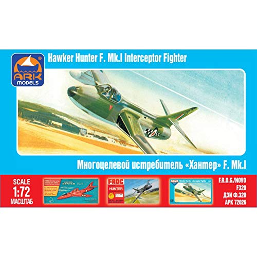 Hawker Hunter British Transonic Jet Fighter Aircraft Russian Airplane Model Kits Scale 1:72