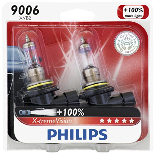 Headlight 00 Rav4 Toyota - Philips 9006 X-tremeVision Upgrade Headlight Bulb, 2 Pack