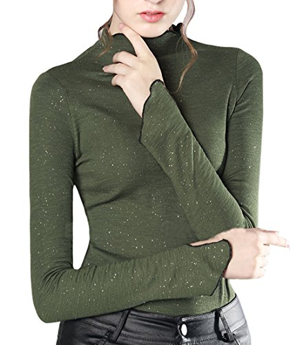 Manicotto lunga fit manica slim Acvip verde manica a donna lunga per nqRaqPp