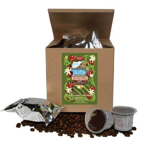 Hawaii Roasters 100% Kona Coffee, Distinguish Serve For Keurig K-Cup Brewers, Medium Roast, 10-Pack net weight 4.6oz