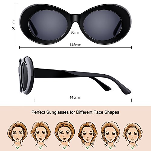 e554ac31b3  One Price for Two  Elimoons Clout Goggles Bold Retro Oval Mod Thick Frame  Sunglasses