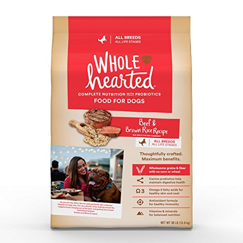 WholeHearted All Life Stages Beef and Brown Rice Recipe Dry Dog Food, 30 lbs.