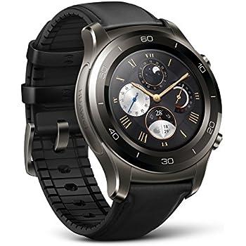 Huawei Watch 2 Classic – Titanium Grey with Black Hybrid Strap - Android Wear 2.0 (US Warranty)