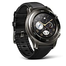 Huawei Watch 2 Classic – Titanium Grey with Black Hybrid Strap - Android Wear 2.0 (US Warranty)
