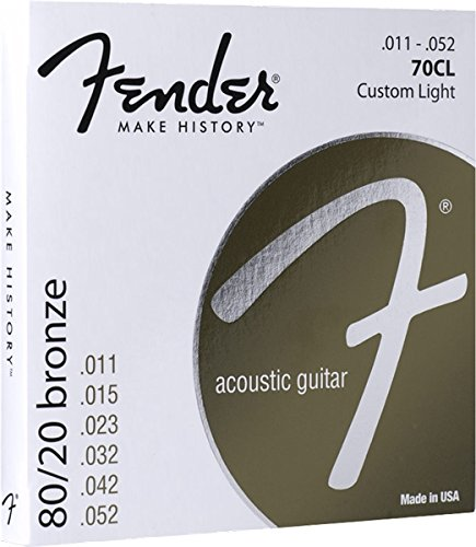 Fender 60L 0730070405 Acoustic Guitar 80/20 Ball End Strings