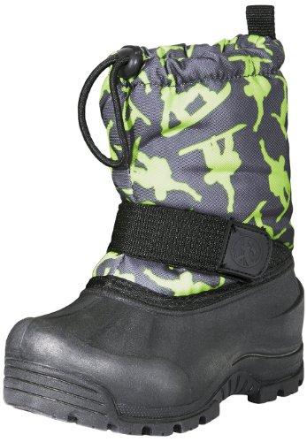 Toddler Girls Green (Northside Frosty Winter Boot (Toddler/Little Kid/Big Kid),Dark Grey/Green,9 M US Toddler)