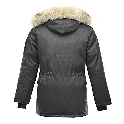 True Meaning Warm Mens Parka Jacket Charcoal5X Big by True Meaning Novelty-outerwear-jackets