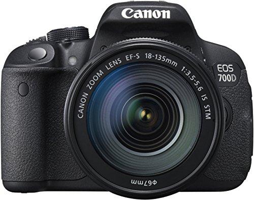 Canon EOS 700D SLR-Digitalkamera (18 Megapixel, 7,6 cm (3 Zoll) Touchscreen, Full HD, Live-View) Kit inkl. EF-S 18-135mm 1:3,5-5,6 IS STM